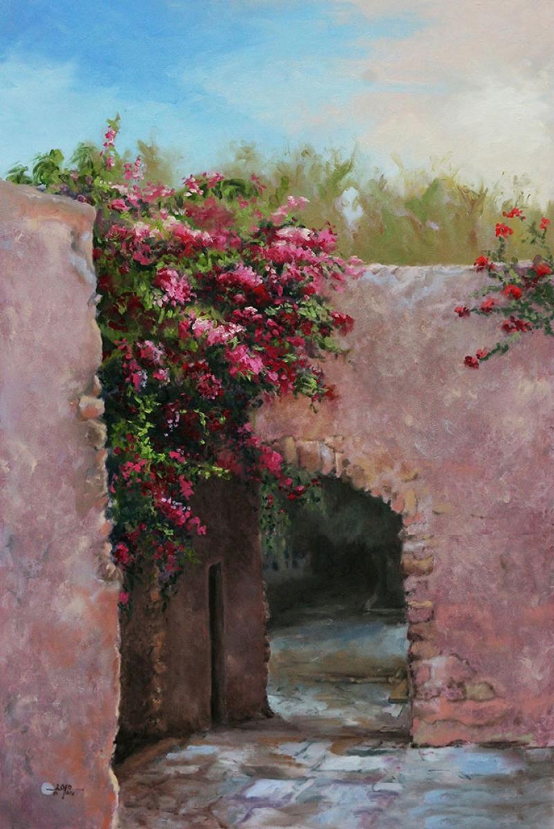 Güller Avlusu, Venedik Dekoratif Kanvas Tablo