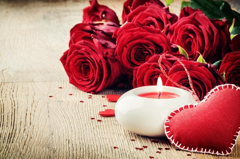 Güller ve Kalp 2 Aşk & Sevgi Kanvas Tablo