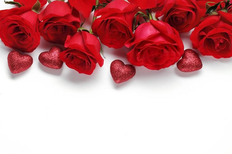 Güller ve Kalp 3 Aşk & Sevgi Kanvas Tablo