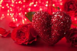 Güller ve Kalp 4 Aşk & Sevgi Kanvas Tablo