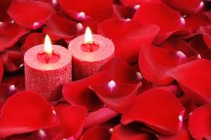 Güller ve Mum Aşk & Sevgi Kanvas Tablo