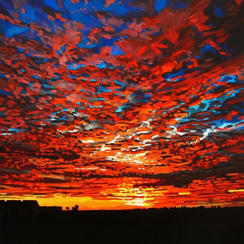 Gün Batımı 3, Şafak Manzaraları Dekoratif Kanvas Tablo