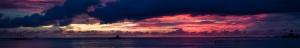 Gün Batımı 5 Panaromik Kanvas Tablo