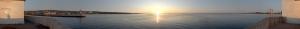 Gün Batımı 8 Panaromik Kanvas Tablo