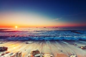 Gün Batımı Doğa Manzaraları Kanvas Tablo