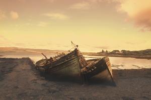 Gün Batımı Eski Sahil Fotoğraf Kanvas Tablo