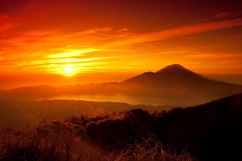 Gün Batımı Güneş Manzarası Kanvas Tablo