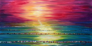 Gün Batımı HD Doğa Manzaraları 2 Dekoratif Kanvas Tablo