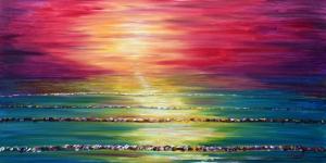 Gün Batımı Hd Doğa Manzaraları 2 Poster Yağlı Boya Sanat Canvas Tablo
