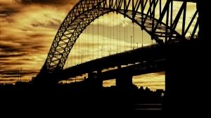 Gün Batımı Köprü Doğa Manzaraları Kanvas Tablo