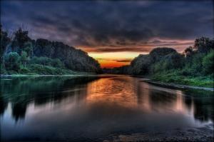 Gün Batımı Manzarası Göl Kanvas Tablo