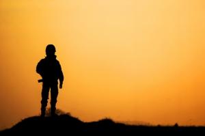 Gün Batımı Nöbet Askeri Kanvas Tablo