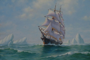 Gün Batımı Renkli Yelkenli Tekneler 9 Deniz Doğa Manzarası Yağlı Boya Sanat Kanvas Tablo