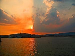 Gün Batımı Sahil 3 Doğa Manzaraları Kanvas Tablo