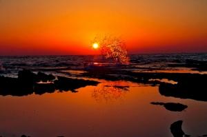 Gün Batımı Sahil 6 Doğa Manzaraları Kanvas Tablo