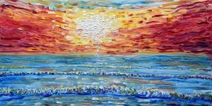 Gün Batımı Yağlı Boya Sanat Kanvas Tablo