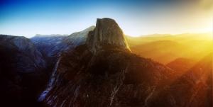 Gün Işığı ve Dağ Doğa Manzaraları Kanvas Tablo