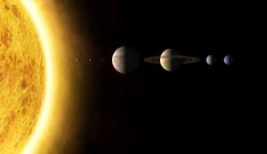 Güneş Sistemi Kanvas Tablo