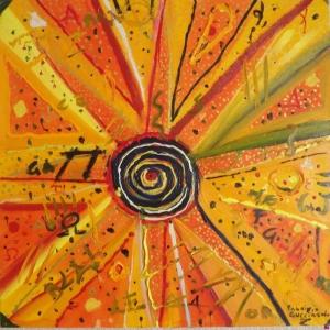 Güneş Soyut Abstract Sanat Kanvas Tablo