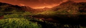 Güneş ve Doğa Panaroma Panaromik Manzara Kanvas Tablo