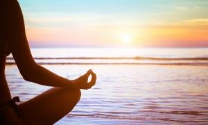 Güneşi Selamlama Yoga Astroloji & Burçlar Kanvas Tablo
