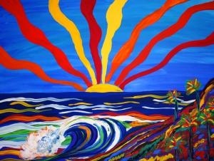Güneşin Kolları Yağlı Boya Sanat Kanvas Tablo