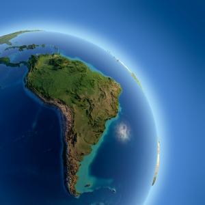 Güney Amerika Dünya & Uzay Kanvas Tablo
