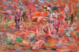 Günlük yaşam Çiftçi ve Atlar Sanat Kanvas Tablo