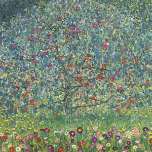 Gustav Klimt Çicek Bahçesi Baş Yapıt Klasik Sanat Kanvas Tablo