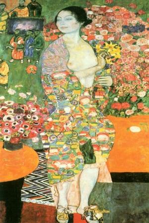 Gustav Klimt Dancer Dansçı, Baş Yapıt Klasik Sanat Kanvas Tablo