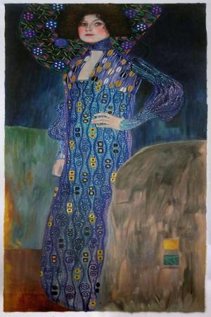 Gustav Klimt Emilie Floge'Un Portres, Patroit of Emilie Floge, Baş Yapıt Klasik Sanat Kanvas Tablo