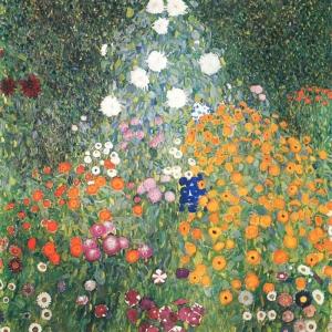 Gustav Klimt Flower Garden, Çiçek Bahçesi Baş Yapıt Klasik Sanat Kanvas Tablo