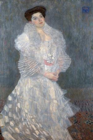 Gustav Klimt Güzel Kız, Hermine Gallia Portresi Baş Yapıt Klasik Sanat Kanvas Tablo