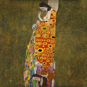 Gustav Klimt Hope 2, Umut Baş Yapıt Klasik Sanat Kanvas Tablo