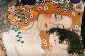 Gustav Klimt Mother and Child, Anne ve Çocuk-2, Baş Yapit Klasik Sanat Kanvas Tablo
