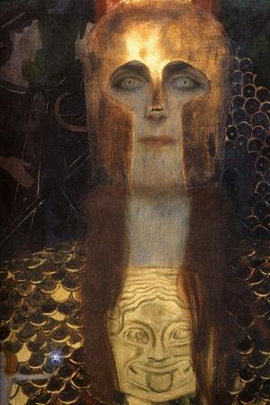 Gustav Klimt Pallas Athena-1898, Baş Yapıt Klasik Sanat Kanvas Tablo