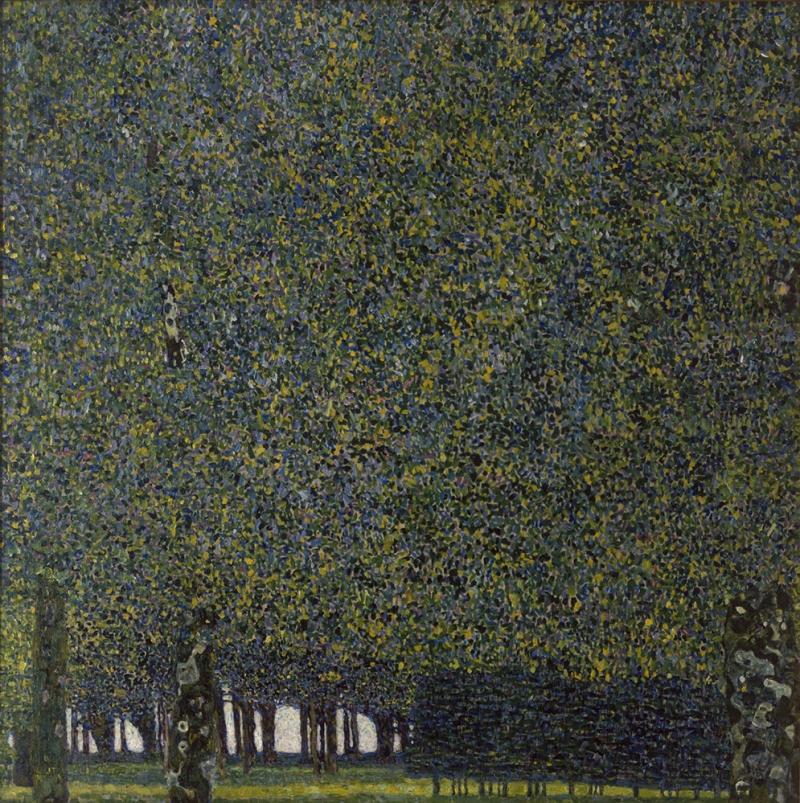 Gustav Klimt Park Soyut Yağlı Boya Klasik Sanat Kanvas Tablo