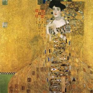 Gustav Klimt, Ritratt  Adele Bloch Bauer 1907 Vienna, Baş Yapıt Klasik Sanat Kanvas Tablo