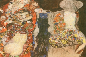 Gustav Klimt The Bride Unfinished-1917 Gelin, Baş Yapit, Klasik Sanat Kanvas Tablo