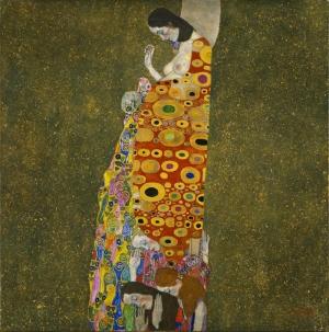 Gustav Klimt Umut Soyut Yağlı Boya Klasik Sanat Kanvas Tablo