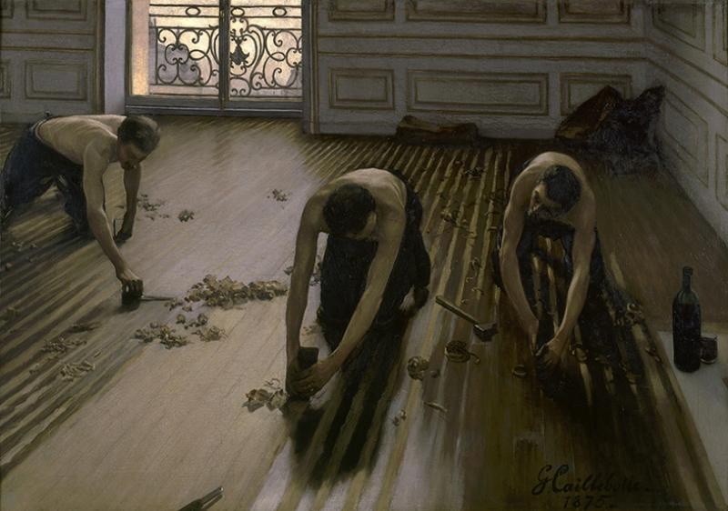 Gustave Caillebotte The Floor Planers Yağlı Boya Sanat Kanvas Tablo