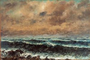 Gustave Courbet Sonbaharda Deniz Yagli Boya Klasik Sanat Kanvas Tablo