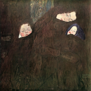 Gustov Klimt, Anne Ve Çocukları, Mother With Children 1910-1918 Klasik Sanat Kanvas Tablo