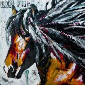 Güzel Yeleli At, Hayvanlar, Modern Sanat Kanvas Tablo