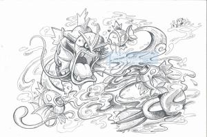 Gyarados 6 Pokemon Karakterleri Kanvas Tablo