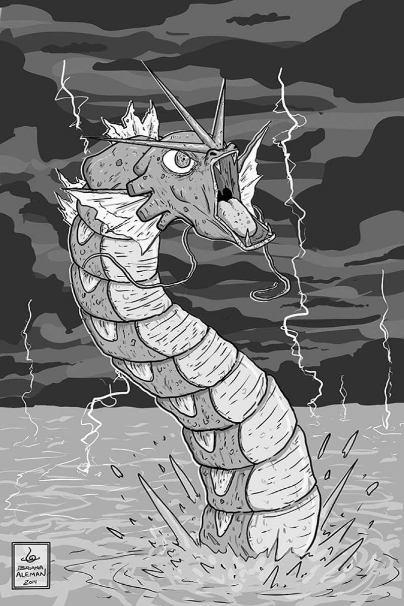 Gyarados-7 Pokemon Karakterleri Kanvas Tablo