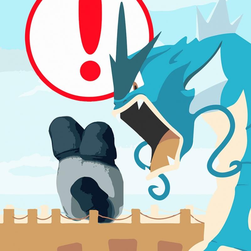 Gyarados 9 Pokemon Karakterleri Kanvas Tablo