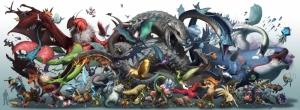 Gyarados Kawaii Bulbasaur Pokemon Karakterleri Kanvas Tablo