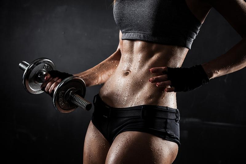 Gym Kadın Fitness Dumbel-2 Kanvas Tablo