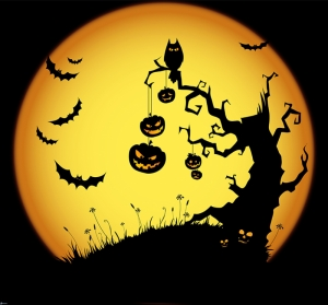 Halloween Abstract Dijital ve Fantastik Kanvas Tablo